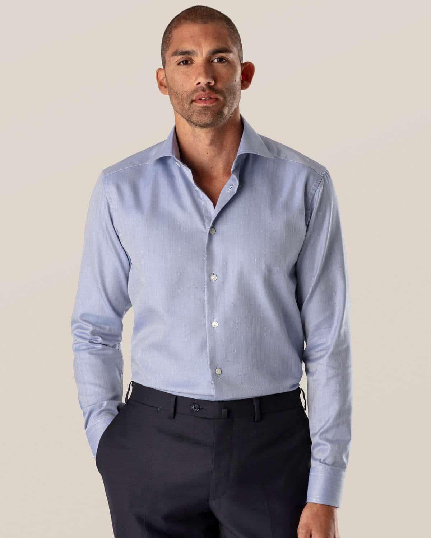 light 02 blue herringbone twill shirt thumbnail   - Bussiness Class